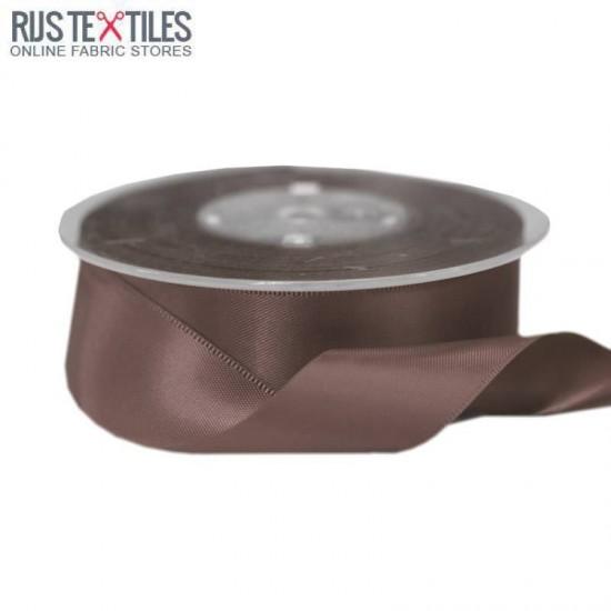 Satin Ribbon 25mm Brown