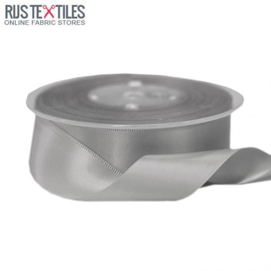 Satin Ribbon 25mm Grey