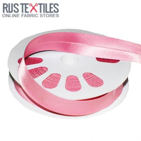Satin Bias Binding Pink 20mm