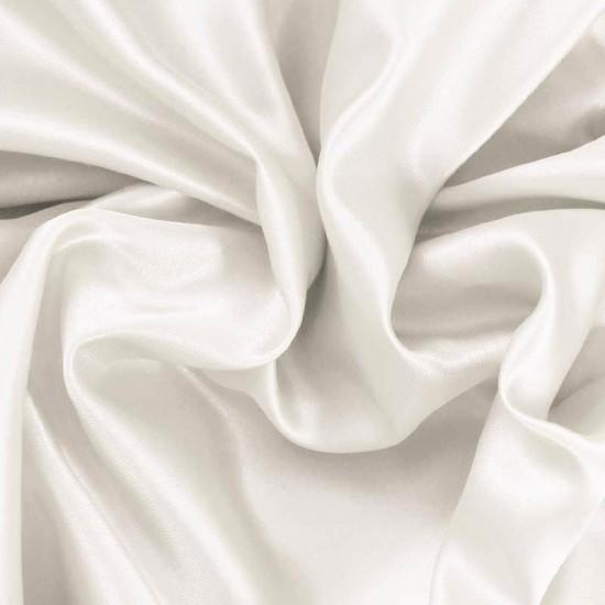 Satin Fabric Off White