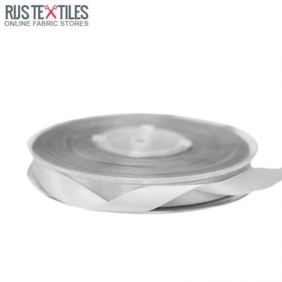 Satin Ribbon 9mm Light Grey
