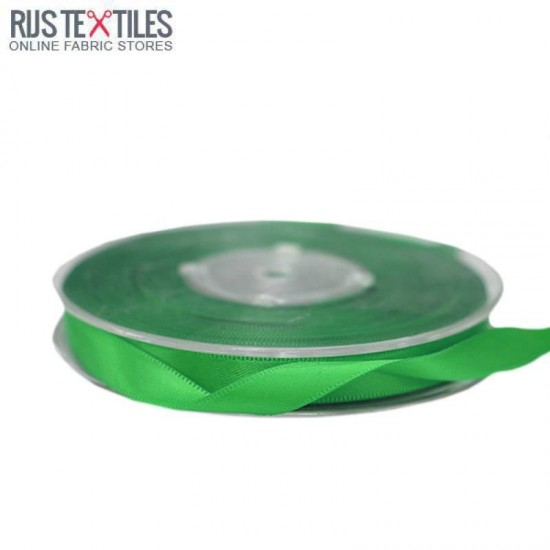 Satin Ribbon 9mm Grass Green
