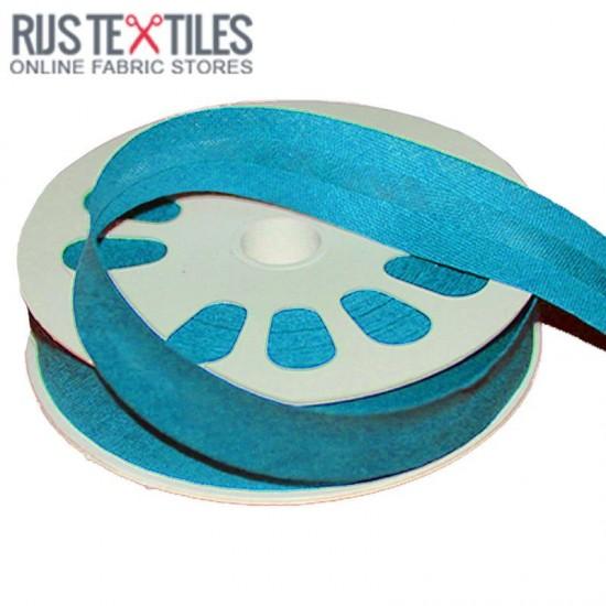 Biais Coton Plié Aqua 20mm