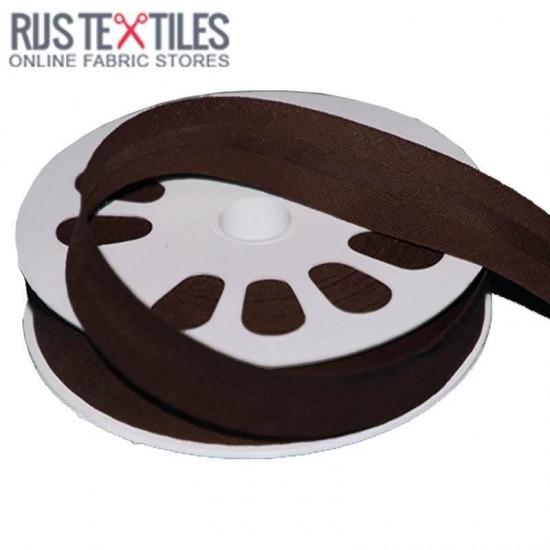 Cotton Bias Binding Brown 20mm