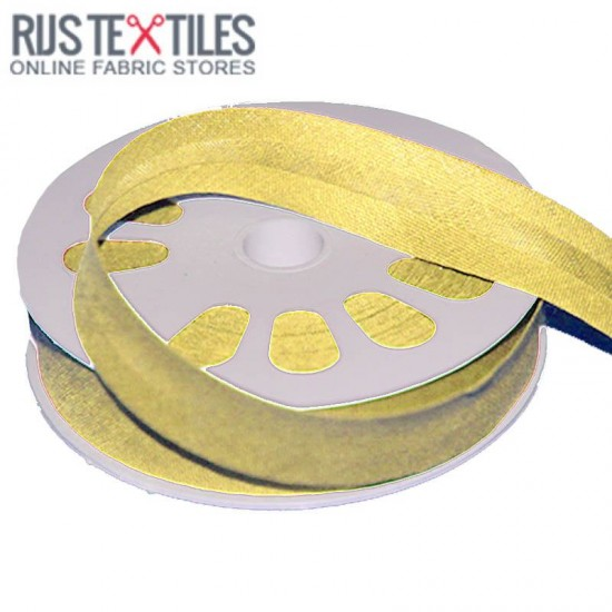 Cotton Bias Binding Light Yellow 20mm