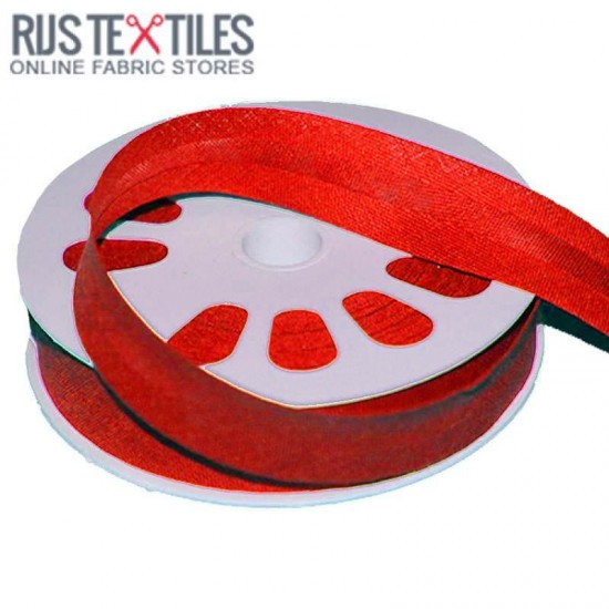 Cotton Bias Binding Red 20mm