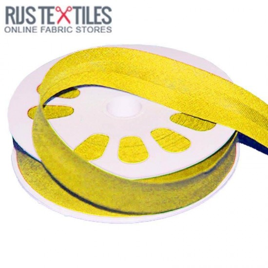 Cotton Bias Binding Yellow 20mm
