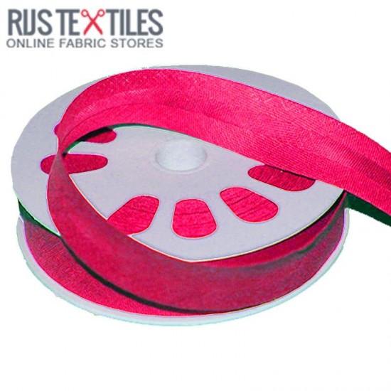 Cotton Bias Binding Hot Pink 20mm