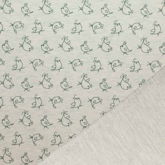 Mi & Joe Fabrics Sweat - Bird Ecru Melange