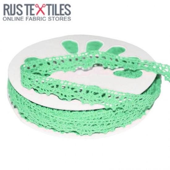 Crochet Lace Trim Mint 15mm