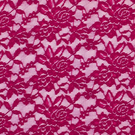 Lace Fabric Stretch Fuchsia