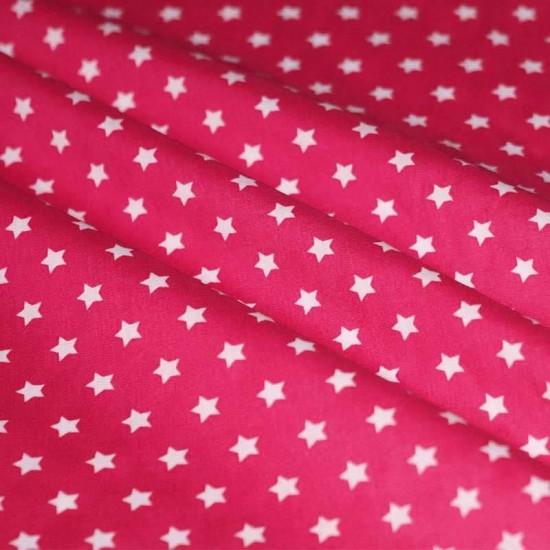 Stjerne Stof Fuchsia 9 mm