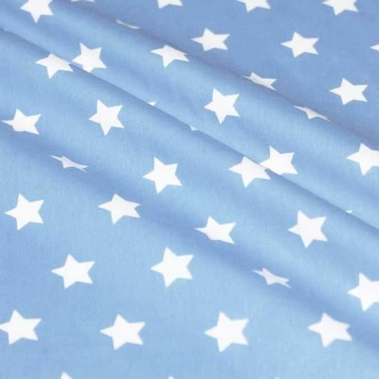Katoenen Sterren Licht Blauw 20 mm