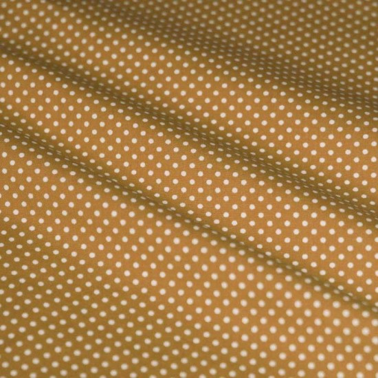 Polka Dot Fabric Beige / White 2mm