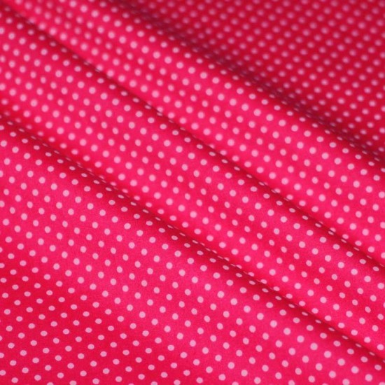 Polka Dot Fabric Fuchsia / Pink 2mm