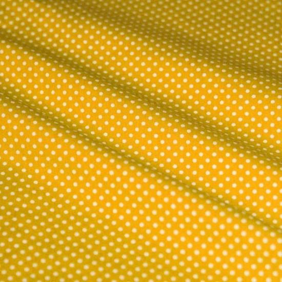 Polka Dot Fabric Yellow / White 2mm