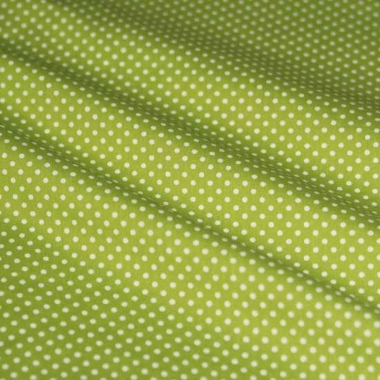 Polka Dot Fabric Lime / White 2mm