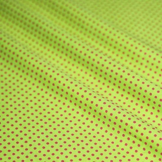 Polka Dot Fabric Lime / Fuchsia 2mm