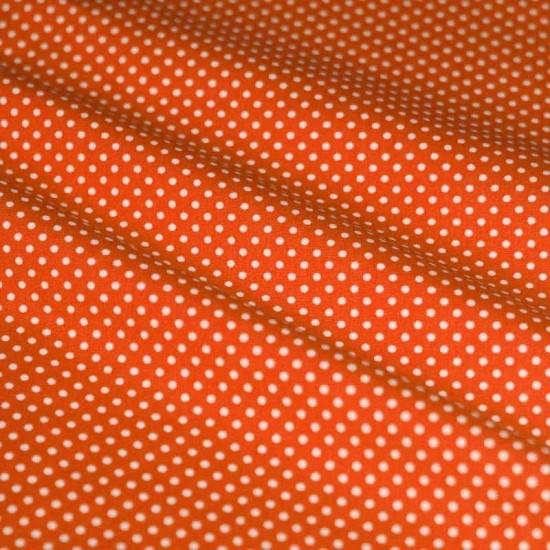 Polka Dot Fabric Orange / White 2mm