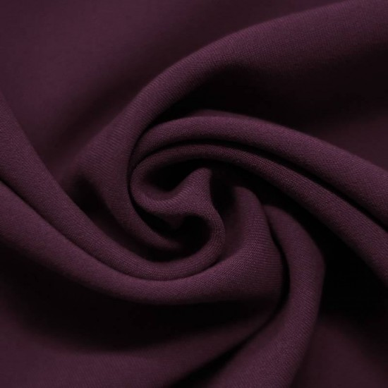 Stretch Gabardine Fabric Dark Purple