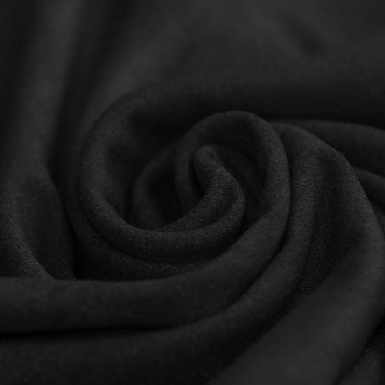 Stretch Imitation Suede Fabric Black