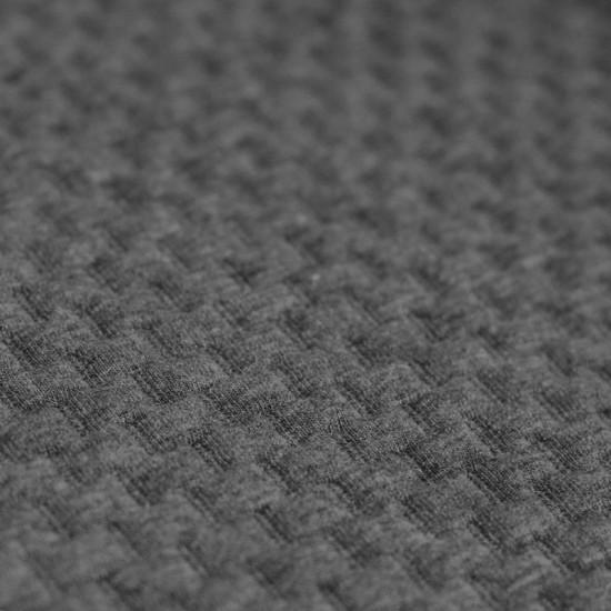 Knitted Jacquard Fabric Brick Pattern Grey Melange