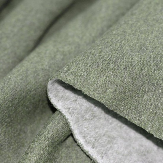Jogging Fabric Melee (Yarn Dyed) Olive