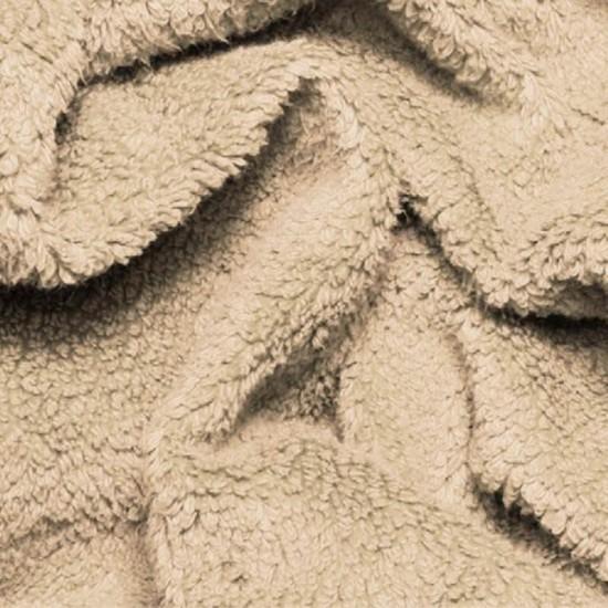 Curly Teddy Fabric Beige