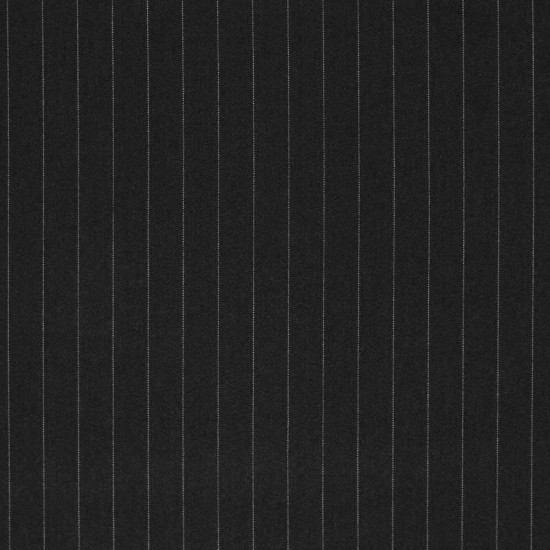 Stretch Gabardine Stof 18mm Krijtstreep Stof Zwart Wit