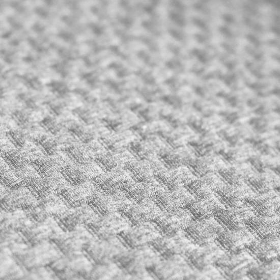7a560d618c1 Knitted jacquard fabric brick pattern light grey melange. Buy cheap online
