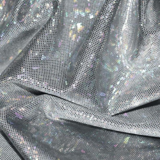 Hologram Fabric Leaf Grey