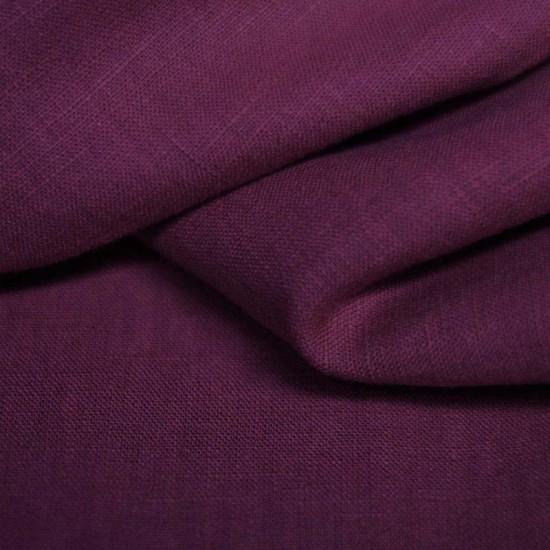 Linen Fabric Eggplant