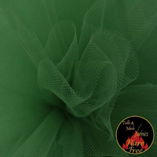 Tulle Fabric Forest Green
