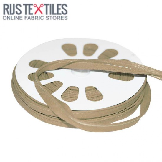 Cotton Piping Tape Beige 10mm