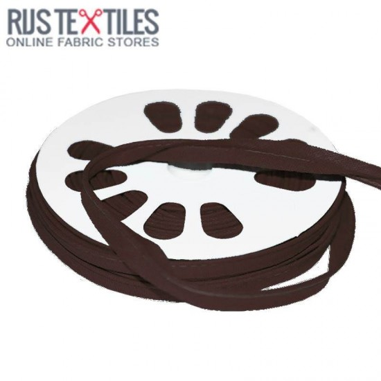 Cotton Piping Tape Brown 10mm