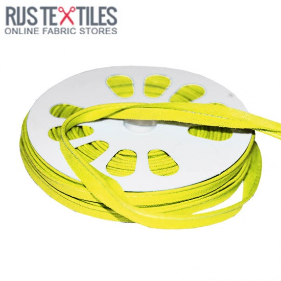 Cotton Piping Tape Yellow 10mm