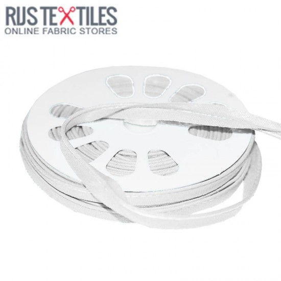 Cotton Piping Tape White 10mm