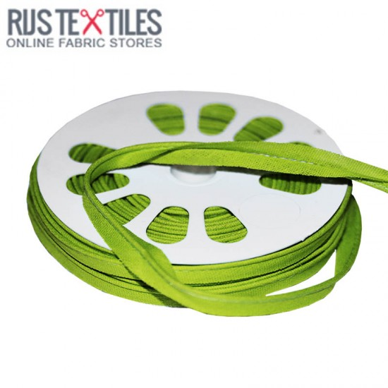 Cotton Piping Tape Lime 10mm