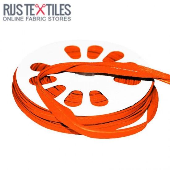 Cotton Piping Tape Orange 10mm