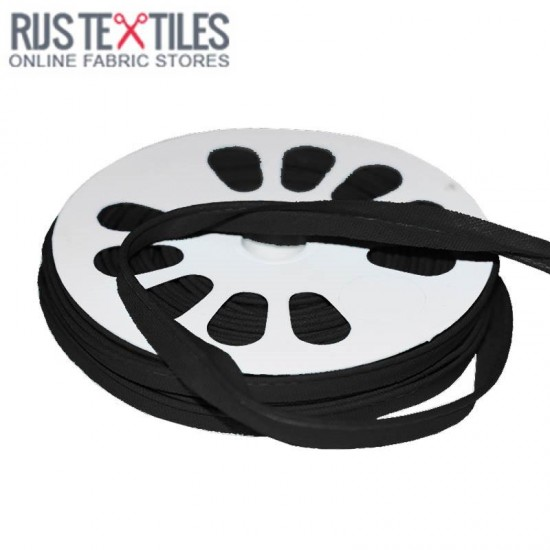 Cotton Piping Tape Black 10mm