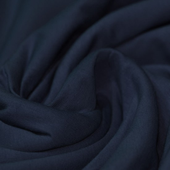 Cotton Jersey Knit Fabric Navy
