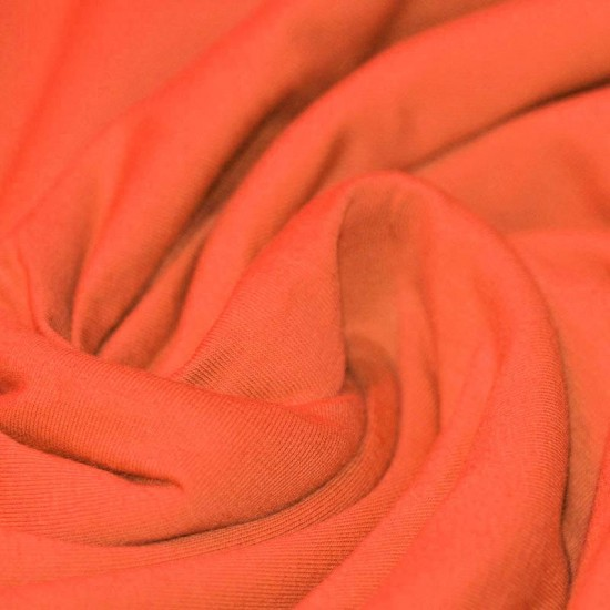 Bomuldsjersey Stof Orange