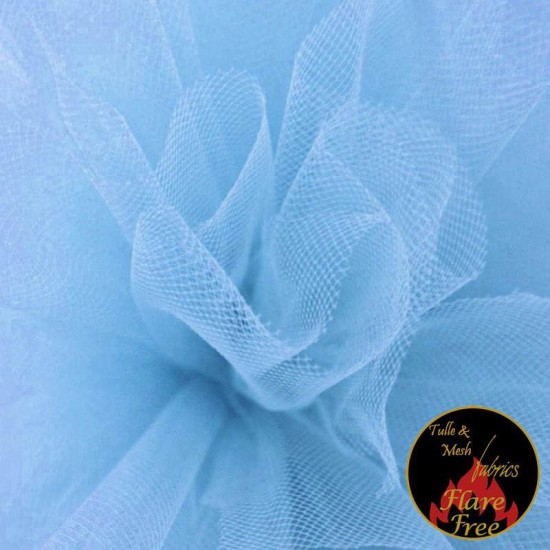 Tulle Fabric Baby Blue
