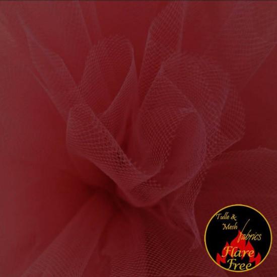 Tulle Fabric Dark Red