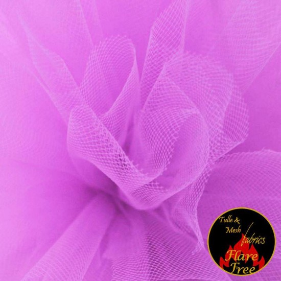 Tulle Fabric Lila Pink