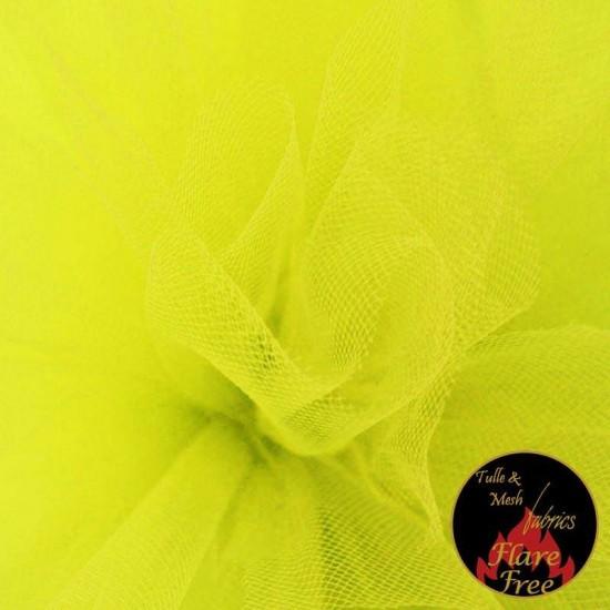 Tulle Fabric Fluor Yellow