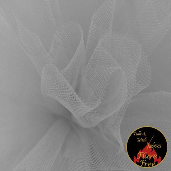 Tulle Fabric Light Grey