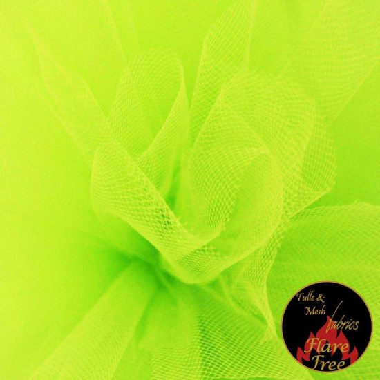 Tulle Fabric Fluor Lime