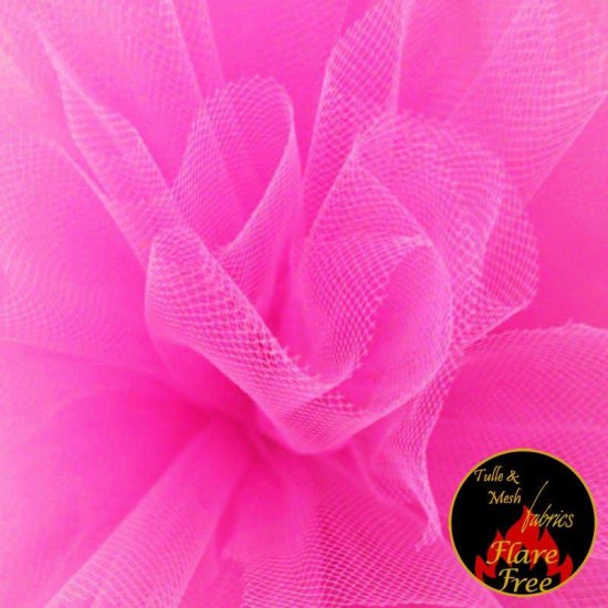 Tulle Fabric Fluor Pink