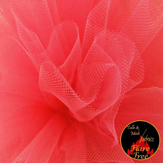 Tulle Fabric Fluor Red